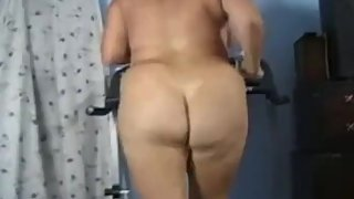 Sexy Thick Ass Mature on Treadmill Butt Naked