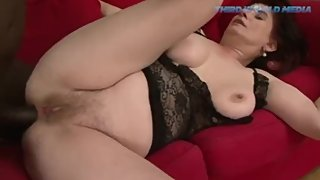 Big Boobed Brunette Granny Gets Some Black Cock