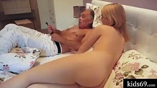 Old man fucking beautiful hot sexy girl , white girl fuck by old man amatur