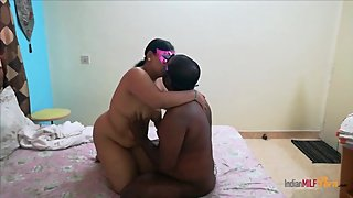 mature Indian wife having fun with her cuckold husband friend