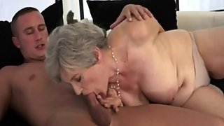 Grey Haired Granny gets a Young Cock