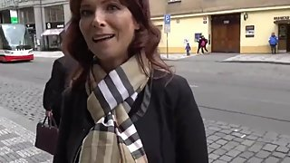 Busty mature american milf having anal sex with tourist in Prague