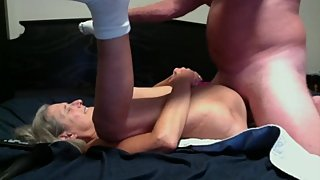 Hot Milf Gets Fucked Has Huge Squirt Gets Big Creampie Dripping From Pussy