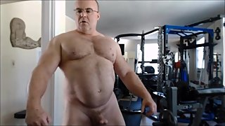 Mature Hard Cock Muscle Tease