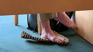 Mature candid feet in flats Sorry no faceshot