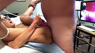Hot MILF Get Slow Fuck Ending With A Nice Cream Pie Dripping From Her Pussy