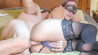 ANAL Teen MILF Stella Caught Masturbating, Lets Husband Anal Fuck Her Ass