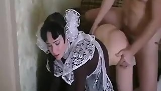 Young russian 18yo schoolgirl was fucked after lessons with mature daddy