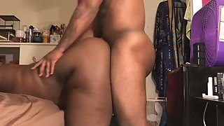 Daddy fucks me deep until he comes all over my ass