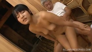 PETITE SEDUCTIVE JAPANESE AV MODEL PLEASES HORNY MATURE GUY - JAPANESE MILF