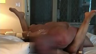 Mature muscle bull power fucks asian wife in front of husband