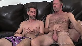 DADDIES AND FRIENDS WANKING TOGETHER