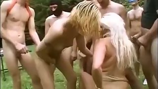 brutal german outdoor swinger party