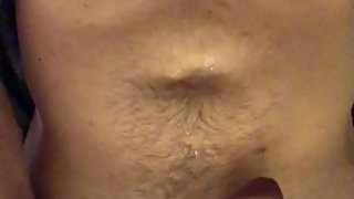 Dirty talking and shooting a big load of cum all over my chest