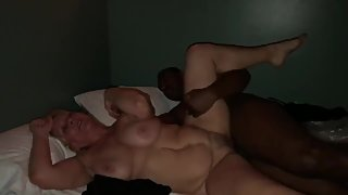 Freija Mature Blonde Milf tries to tap out Random BBC BULL WonТt let her.