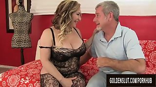Curvy Mature Savannah Jane Takes an Old Dick for a Joyride