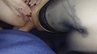 Ex lady boss 52 yo in stockings car fucking and cum 2014