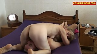 FaceSit n Ride Wild, Mature Cougar dominates her male, asspress Raw footage
