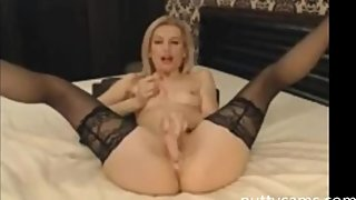 horny blonde babe has the hottest cunt