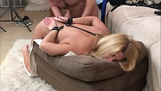 MILF gets Cuffed Spanked Fucked & Cummed on