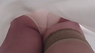 Mature Rosemary gets panty perved and swallows a huge load