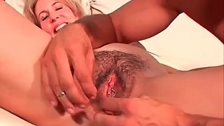 Busty GILF gets drilled hard in both holes by her lover