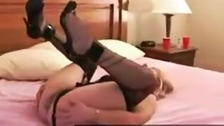 Blonde Wife Satisfies BBC in Motel