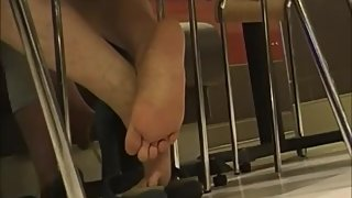 Candid Mature Asian MILF Soles Plus Faceshot