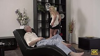 Old4K. Claudia Mac reaches orgasm thanks to skilled mature lover